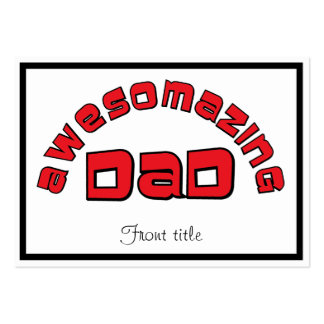 AWESOMAZING DAD 1 BUSINESS CARD TEMPLATES