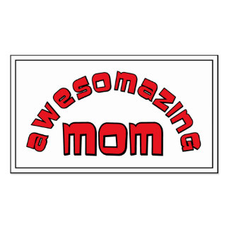 Awesomazing Mom 1 Business Card Template