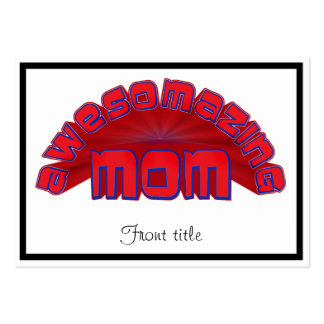 AWESOMAZING MOM BUSINESS CARD TEMPLATE