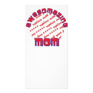 AWESOMAZING MOM Photo Frame Customized Photo Card