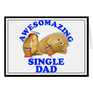 Awesomazing Single Dad - Father & Son Potatoes Cards