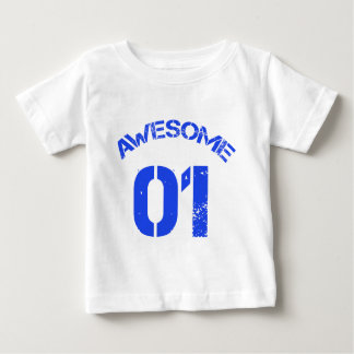 Awesome 01 Blue Lg Design Baby T-Shirt