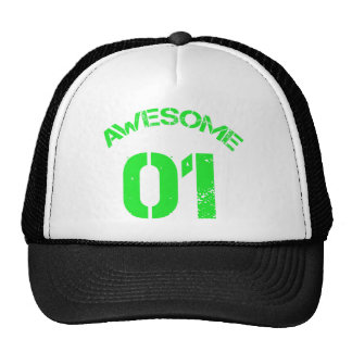 Awesome 01 Green Lg Design Trucker Hat
