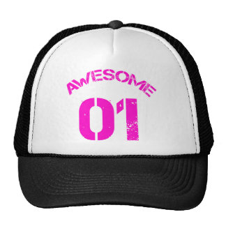 Awesome 01 Pink Lg Design Trucker Hat