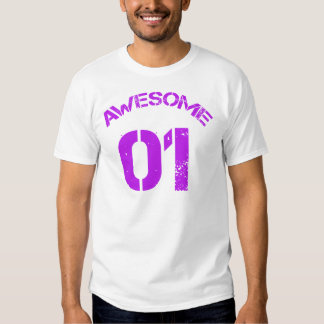 Awesome 01 Purple Lg Design T Shirt