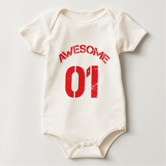 Awesome 01 Red Lg Design Baby Bodysuit