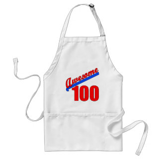 Awesome 100 Awesome at 100 Years Old Adult Apron