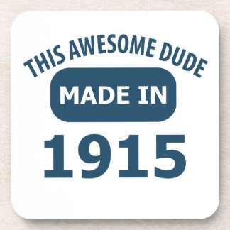Awesome 100 year old birthday beverage coaster