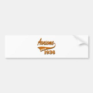 Awesome 1936 Birthday Designs Bumper Sticker