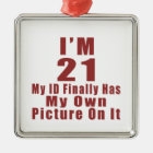 Awesome 21 Birthday Designs Metal Ornament