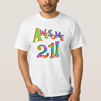 Awesome 21 Birthday T-shirts and Gifts