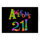 Awesome 21 Birthday T-shirts and Gifts Card