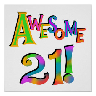 Happy 21st Birthday Posters | Zazzle