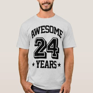 Awesome 24 Years T-Shirt
