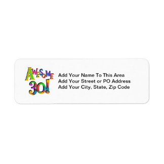 Awesome 30 Birthday T-shirts and Gifts Label