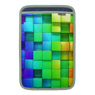 Awesome 3D Boxes Green / Blue / Yellow Sleeve For MacBook Air