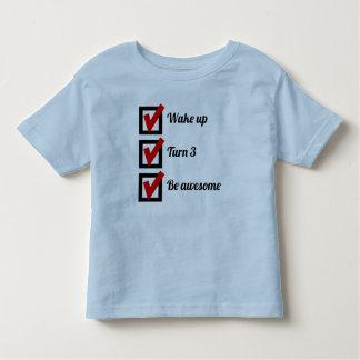 Awesome 3rd Birthday Checklist Shirt
