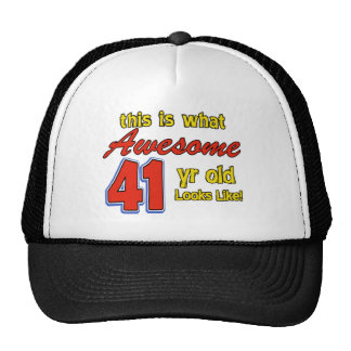 Awesome 40 year old birthday designs trucker hat