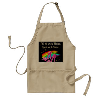 AWESOME 40TH SHOE LOVER ADULT APRON