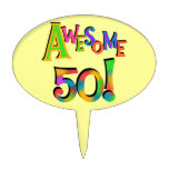 Awesome 50 Birthday Cake Topper