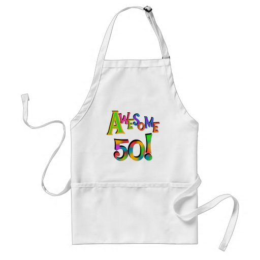 Awesome 50 Birthday T-shirts and Gifts Adult Apron