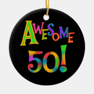 Awesome 50 Birthday T-shirts and Gifts Ceramic Ornament