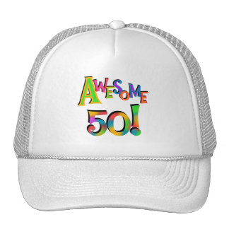 Awesome 50 Birthday T-shirts and Gifts Trucker Hat