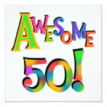 Awesome 50 Birthday T-shirts and Gifts Personalized Invites