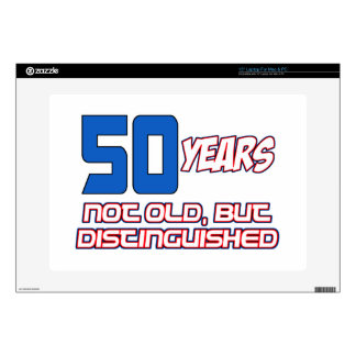 awesome 50 YEAR OLD BIRTHDAY DESIGNS Laptop Decal