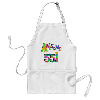 Awesome 55 Birthday T-shirts and Gifts Adult Apron