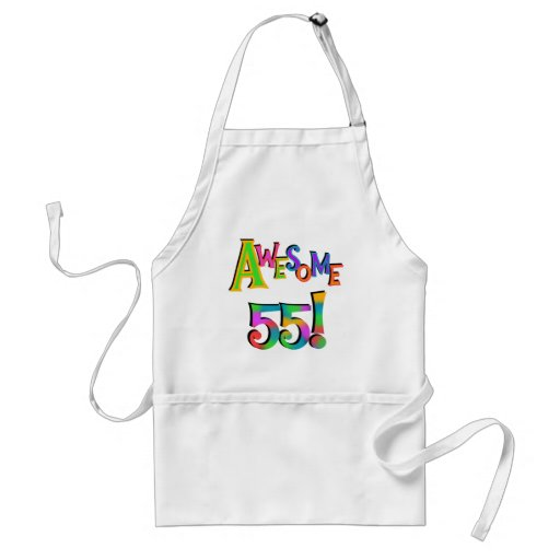 Awesome 55 Birthday T-shirts and Gifts Aprons