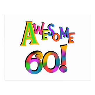 Awesome 60 Birthday T-shirts and Gifts Postcard