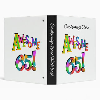 Awesome 65 Birthday Tshirts and Gifts Binder