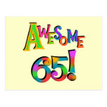 Awesome 65 Birthday Tshirts and Gifts Postcard