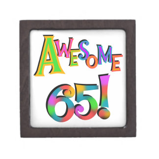 Awesome 65 Birthday Tshirts and Gifts Premium Jewelry Box