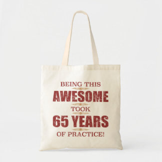 Awesome 65th Birthday Tote Bag