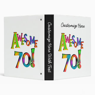 Awesome 70 Birthday T-shirts and Gifts Binder
