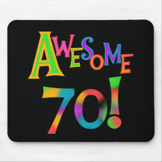 Awesome 70 Birthday T-shirts and Gifts Mouse Pad