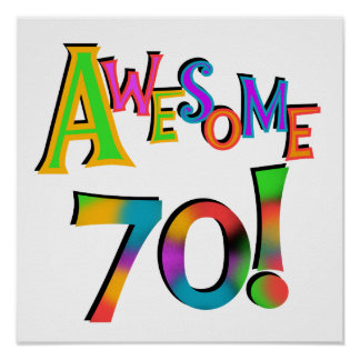 Awesome 70 Birthday T-shirts and Gifts Print