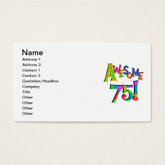Awesome 75 Birthday T-shirts and Gifts Business Card