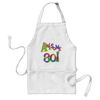 Awesome 80 Birthday T-shirts and Gifts Adult Apron