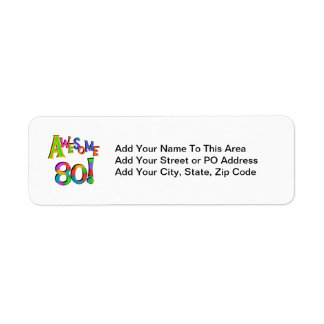 Awesome 80 Birthday T-shirts and Gifts Label