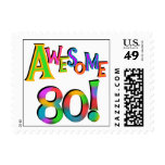 Awesome 80 Birthday T-shirts and Gifts Stamps