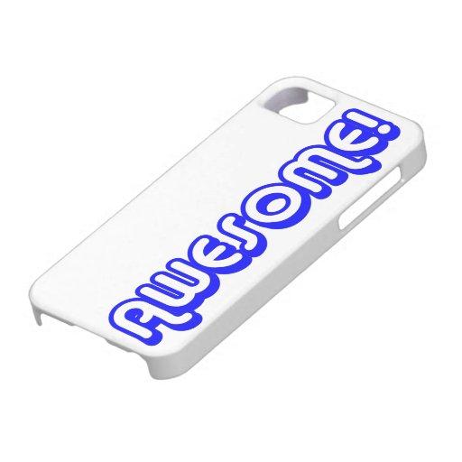 Awesome 80s Blue Retro Pop Art Slang iPhone 5 Case