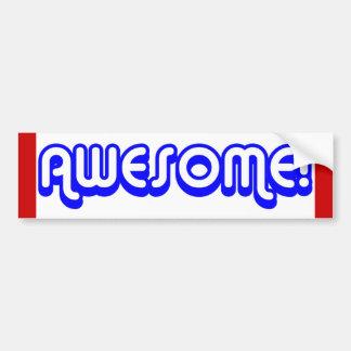Awesome! 80s Retro Bumper Sticker