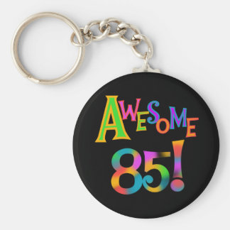 Awesome 85 Birthday T-shirts and Gifts Basic Round Button Keychain