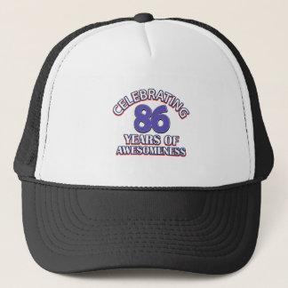 Awesome 86 year old gifts trucker hat