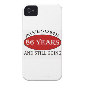 awesome 86 years old birthday designs iPhone 4 cover