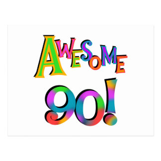 Awesome 90 Birthday T-shirts and Gifs Postcard