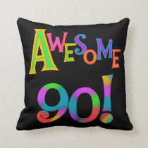 Awesome 90 Birthday T-shirts and Gifs Throw Pillow